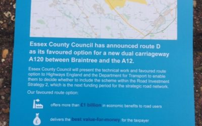 ECC Announces Option D as Preferred Route Option for New Dual Carriageway A120 between Braintree and A12